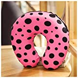 Nackenschutz U-Typ Kissen Nachttischkissen Individuelles Reisekissen Büro Student (Farbe : Pink)