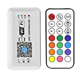 RGBZONE DC12-24V Mini WiFi LED Controller 21 Keys RF Remote Controller for RGB LED Strip Light