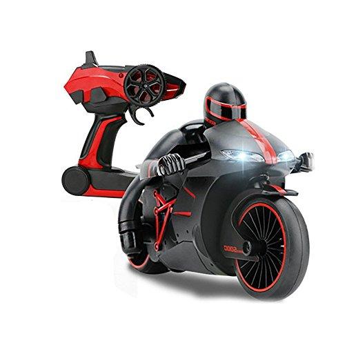Preisvergleich Produktbild PowerLead RC Motorrad 2.4GHz schnelle Geschwindigkeit und Drift Fernbedienung Motorrad mit Gyroskop LED Scheinwerfer Elektrofahrzeug Auto