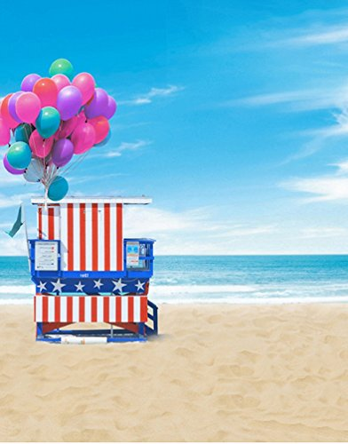 Vinyl Seaside Strand Blau Himmel Meer Sommer Szene Theme Studio Props Fotografie Hintergründe (Strand-szene Hintergrund)