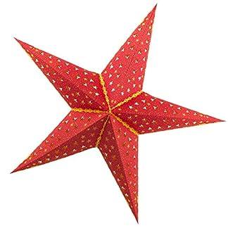Brubaker–Estrella de Navidad plegable (con hübschem Estrella de Print––Cartón fotográfico 60cm