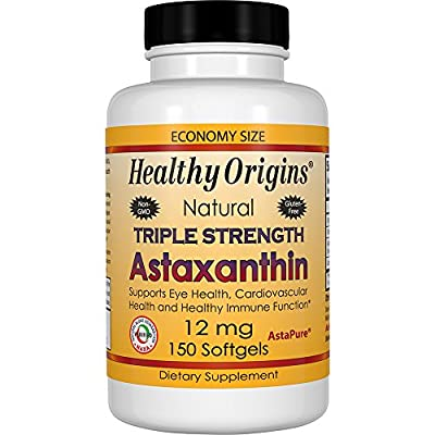 Healthy Origins Triple Strength Astaxanthin - 150 - 12mg Softgels by Healthy Origins