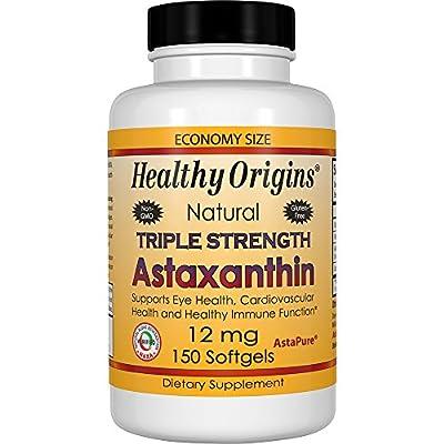 Healthy Origins Triple Strength Astaxanthin - 150 - 12mg Softgels by Healthy Origins