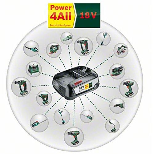Bosch Akku Laubbläser ALB 18 LI (Akku, Ladegerät, Karton, Max. Gebläsegeschwindigkeit 210 km/h, 18 Volt System, 2,5 Ah) -