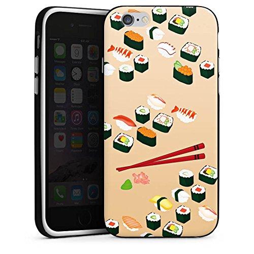 Apple iPhone 6 Housse Outdoor Étui militaire Coque Sushi Nourriture Nourriture Housse en silicone noir / blanc