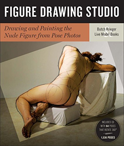 Figure Drawing Studio: Drawing and Painting the Nude Figure from Pose Photos par Butch Krieger, Live Model Books