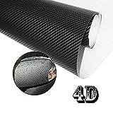 4D Etiqueta Adhesiva Fibra de Carbono Vinilo Impermeable para la Decoración Interior de Coche 152 X 30cm