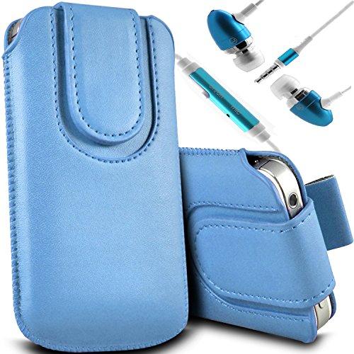 Brun/Brown - Sony Xperia Z3 Compact Housse et étui de protection en cuir PU de qualité supérieure à cordon avec fermeture par bouton magnétique et stylet tactile pour par Gadget Giant® Bleu Baby & Ear Phone
