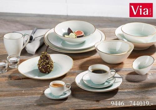 Via By R&B Geschirr-Serie Cosmo Blau Größe Frühstücksteller 20 cm Blau Cosmo