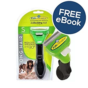 Furminator De Shedding Tool for Small Dogs - Long Hair - INCLUDES EXCLUSIVE FLEA & TICK E BOOK 12