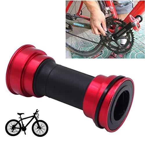 Lanbinxiang@ Alliage de Bicyclette en Plastique, Support en Aluminium de 86 à 92 mm, adapté au vélo de Montagne Shimano. sécurité (Couleur : Rouge)