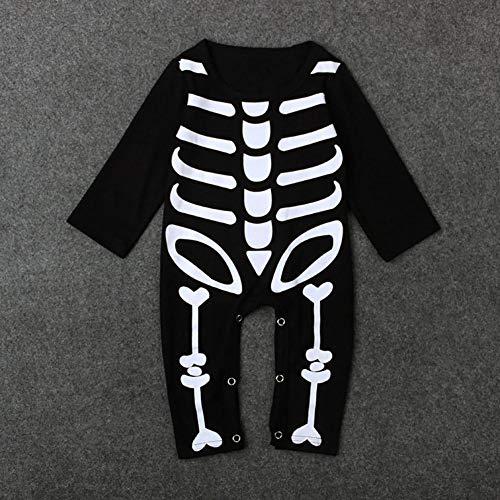 Jspoir Melodiz Halloween Kind Kleidung Kinder Jumpsuit Schädel langärmelige Kleidung Halloween Kostüme Halloween Kostüme für Kinder (Halloween Kostüme 5t)