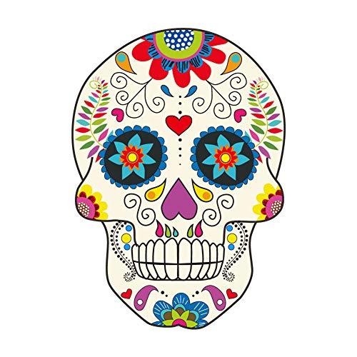 Ouken Totenkopf Muster Aufkleber Aufkleber Auto Aufkleber Halloween Wanddekoration für Kinder/Erwachsene 1 PC