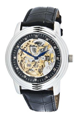 Lindberg&Sons - LSC1215J2 - Montre Homme - Automatique - Analogique - Bracelet Cuir Noir