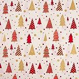 SCHÖNER LEBEN. Baumwollstoff Weihnachten Weihnachtsbäume