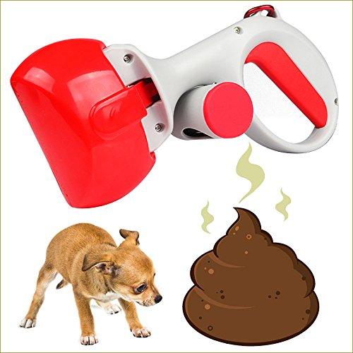Perro Residuos de Recolección Herramienta,Perro Rastrillo de Pooper Scooper,Fácil Para Limpiar Con No era Palillo Abs Plástico -B