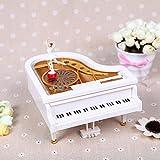 SPFAZJ Carillon di Natale Bianco Pianoforte Carillon Spin Balletto Ragazza Polpo Amico Coppia Creativa, Regalo