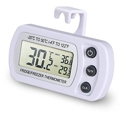 NexGadget Thermomètre Réfrigérateur LCD Digital Thermomètre Congélateur Plage de Mesures Etendue Température de -20°C à +50°C (-4°F à +122°F) Idéal po...