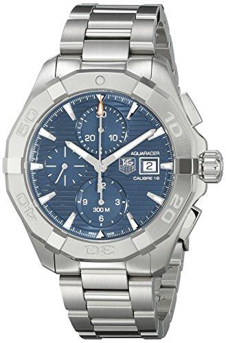 Tag Heuer uomo CAY2112.BA0925300Aquaracer blu quadrante orologio in acciaio INOX