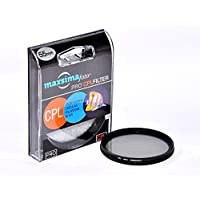 Maxsimafoto - Professional Ultra thin 55mm Circular Polarizing Filter (CPL, C-PL) for Sony 18-55mm, 18-70mm, 55-200mm.