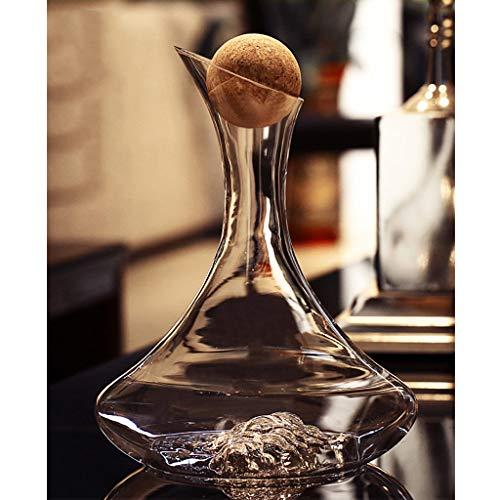 Flasche Rotwein-Dekanter Bleifreies Glas Weinkaraffe | Perfektes Geschenk 1 Stück (Farbe : F)