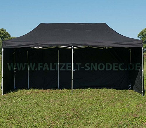 Faltzelt Faltpavillon 3x6 SHWARZ Partyzelt Pavillon PVC 350g m Seitenteile mit 4 Seitenteilen Partyzelt Pavillon Verkaufszelt wasserdicht
