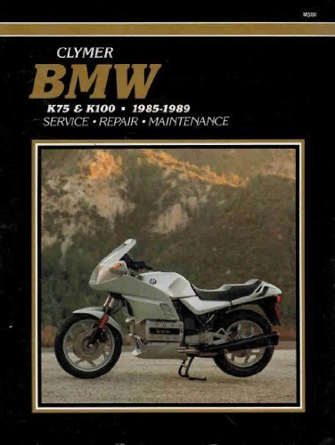 Bmw K75 and K100, 1985-1989: Service, Repair and Maintenance (Clymer Motorcycle Repair Series) by Ed Scott (1990-03-01)
