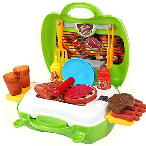 hibote Grill Set-Koffer-Kind-Spielzeug