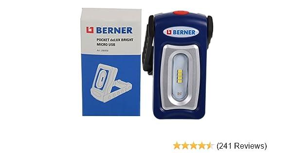 Berner Pocket Delux Bright PREMIUMline LED-Taschenlampe Werkstattlampe