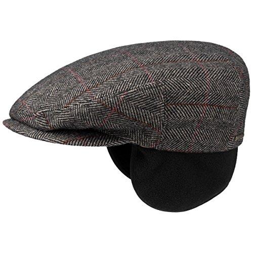 Kent Wool Berretto Paraorecchie Stetson cappello piatto berretti piatti 60 cm - beige