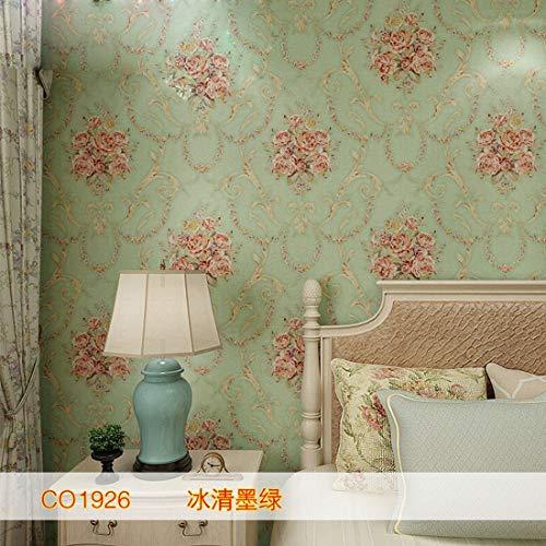 LVLUOYE fondo de pantalla retro rodillo no tejida Materialmaterial, fondo de la sala de decoración Decoración del jardín del estilo, bronceado, dormitorio grande de la flor, la disfunción eréctil