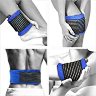 Gelpacksdirect - Reusable Hot/Cold Gel Pack - With Compress Wrap for Fast Pain Relief - Most Body Parts