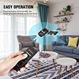 Esky Wireless RF Item Finder Key Finder with Remote Control 1 RF Transmitter and 5 Rechargeable Receivers Black