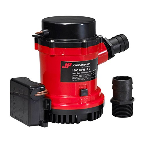 Johnson Pumpen 01674-0011600GPH Heavy Duty Automatische Bilgenpumpe mit Ultima Schalter, 12V -