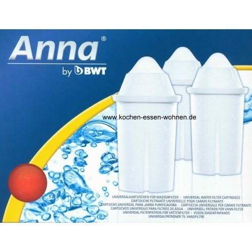 12 Anna Monomax Wasserfilter Kartuschen passend auch für Brita Classic, PearlCo