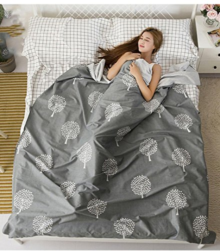 Voyage sac de couchage sale Portable intérieur coton double anti-draps de literie Hôtel voyage essentials , 180cm*230cm , gray
