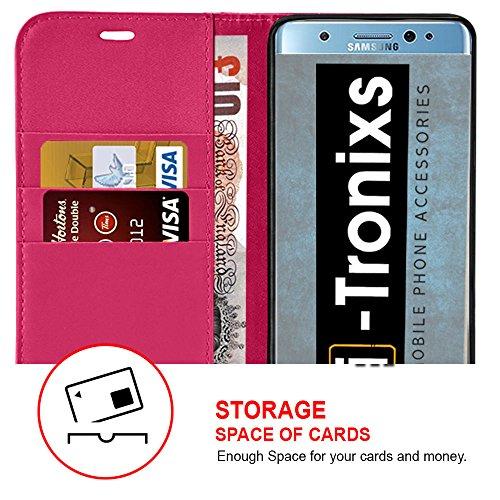 Étui pour HTC Desire 626 / HTC Desire 626 E5603, E5606, E5653 Titulaire de téléphone Case voiture universel Mont Cradle Tableau de bord et pare-brise pour iPhone yi -Tronixs Wallet + glass ( Hot Pink )