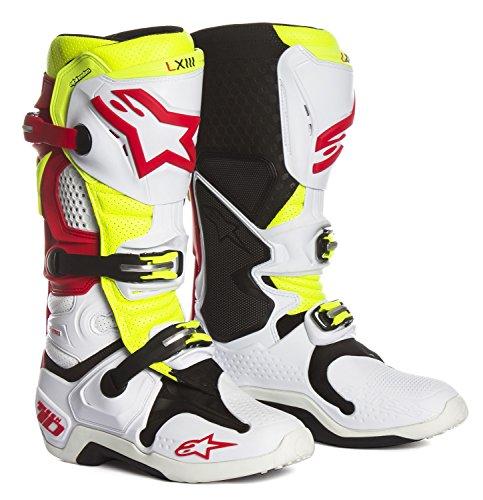 Austauschbare Fußbett (Alpinestars Motocross-Stiefel Tech 10 Weiß Gr. 45.5)