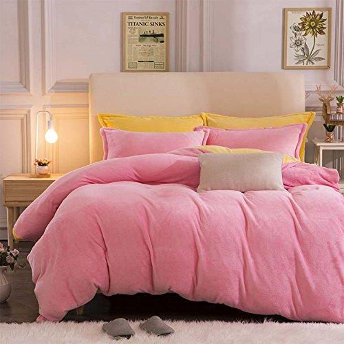 Larry solida e spessa dimensione privato calda flanella (quilt) 1.5 * 2.0 m 2.0 * 2.30m 2.20 * 2.40m , pink , queen