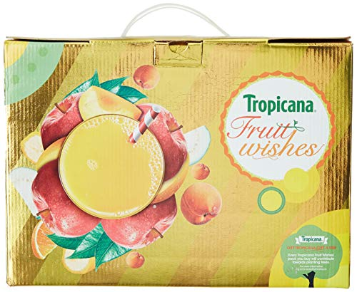 Tropicana Delight Fruit Juice - Festive Gift Box 3L (Mixed Fruit 1L + Apple 1L + Guava 1L)
