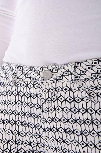 Maison Scotch Damen Hose + Gefällt mir! Sticker Weiß