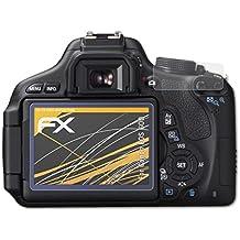 atFoliX Película Protectora Canon EOS 60D Lámina Protectora de Pantalla - Set de 3 - FX-Antireflex anti-reflectante