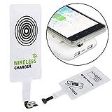 Qianyou Qi Empfänger, Universal Micro USB Shnittstelle Sehr dünn Wireless Ladegerät Receiver Empfänger Induktives Laden für Samsung Galaxy S3/S4/, Sony, LG,MEIZU, und anderes Android-Handy,Weiß