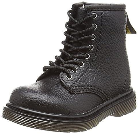 Dr. Martens Unisex Kids Brooklee Pbl Ankle Boots, Black (Black Pebble Lamper), 6 Child UK 23 EU