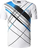 Jeansian Jungen Active Sportswear Quick Dry Short Sleeve Breathable T-Shirt Tee Tops ZSEU_LBS701_White M [Apparel]