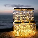 Solar-Led-Lichterketten-Licht Mason Can Cover Light Weihnachten Outdoor Garden Decoration Weihnachtstag Dekoration Licht