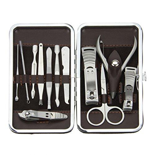 Bao Core Kit Manucure Complet de 12 Pièces Ciseaux à Ongles Nail Kit Portable Acier Inoxydable - Pierre Raies