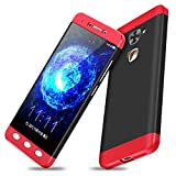 Aeetz® Letv Le 2 back covers, LeEco Le2 Case, Red-Black Colour Case, Knight Series 3 IN 1 Case [Hard] Hybrid PC [Milk Paint] 360¡ Full Protection Mobile Back Case Cover for LeEco Le 2 (Letv Le 2 - Red Black)