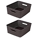 Bel Casa 2 Piece Royal Baskets, Small, Brown