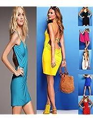 takestop® Lot de 2paréos-robes multi-usages pour femme à porter à la plage, à la piscine, le soir en vacances Différents coloris